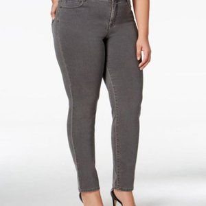 Style & Co Grey Slim Leg High Rise Jeans